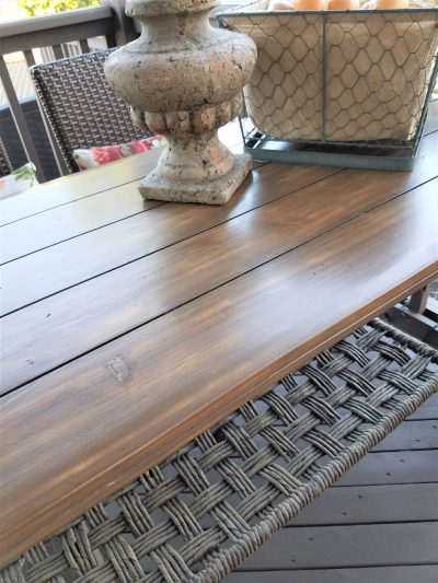 how to refinish outdoor wood furniture