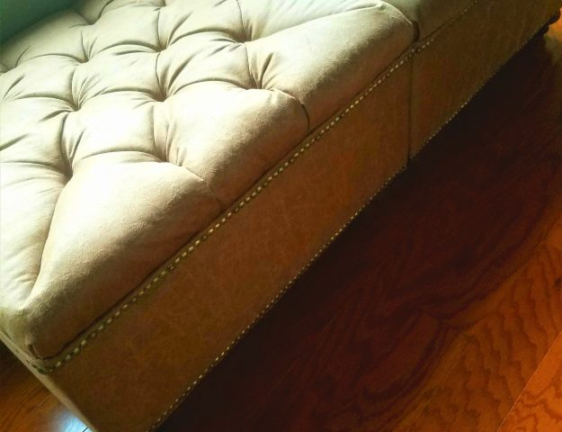 DIY build and upholster a tufted ottoman