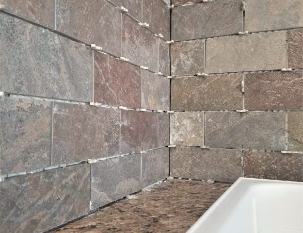 how to install a tile backsplash over drywall