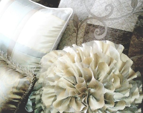 how to make a decorative rose flower pillow