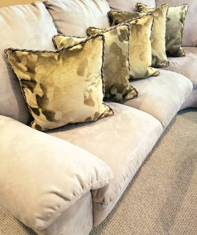 how to sew cording into a pillow cover