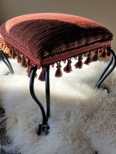 how to reupholster a simple footstool