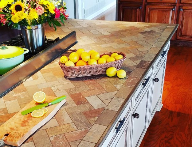 how to install tile on a kitchen countertop