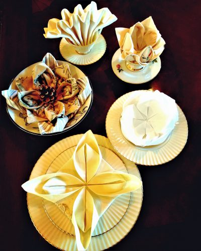 master the easy art of napkin folding