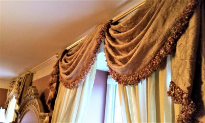 make an open pole empire valance swag