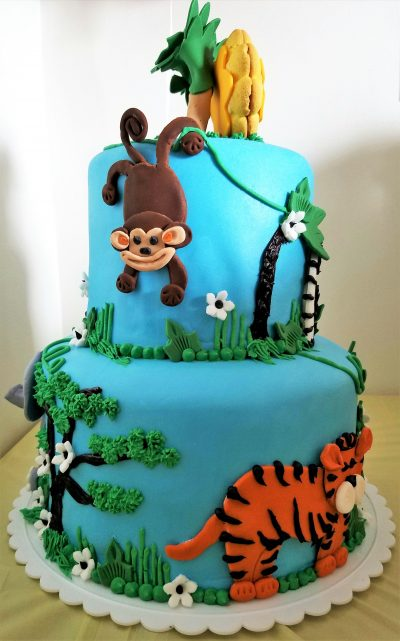 how to decorate a jungle safari cake