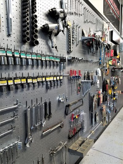 how to install peg board in your garage