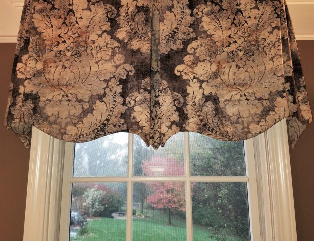 how to make a board mounted window valance