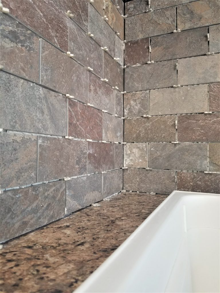 How to install a tile backsplash over drywall renee romeo - How to replace backsplash ...