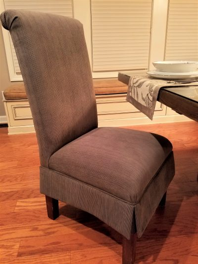 how to reupholster or recover a parsons chair