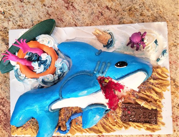 3D Shark Week Meme Cake