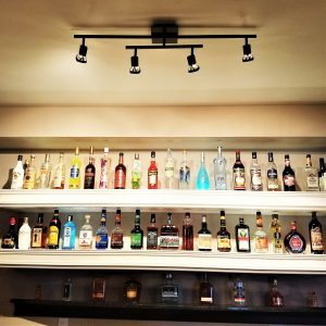 Basement Bar Ideas: Liquor Bottle Storage