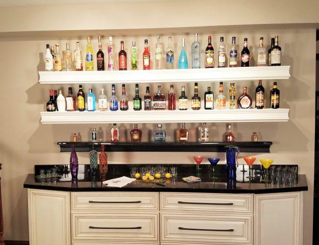 Basement Bar Ideas: Liquor Bottle Storage