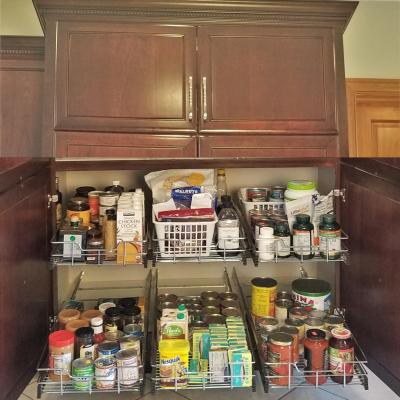 Pantry Build and Pantry Organization