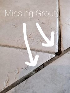 Make grout look cleaner with grout paint